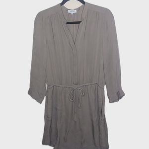 {Babaton} Aritzia Taupe Silk Bennett Dress